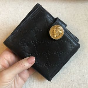 GUCCI Leather GG Print Wallet